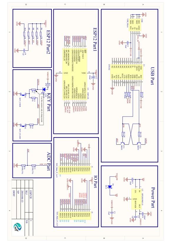 Schematics for ESP-12E DevKit | User Manual for ESP-12E DevKit